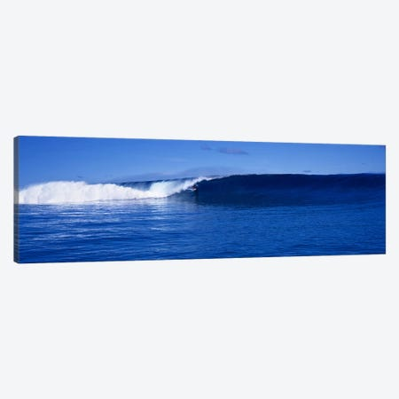 Waves splashing in the sea Canvas Print #PIM9063} by Panoramic Images Canvas Art