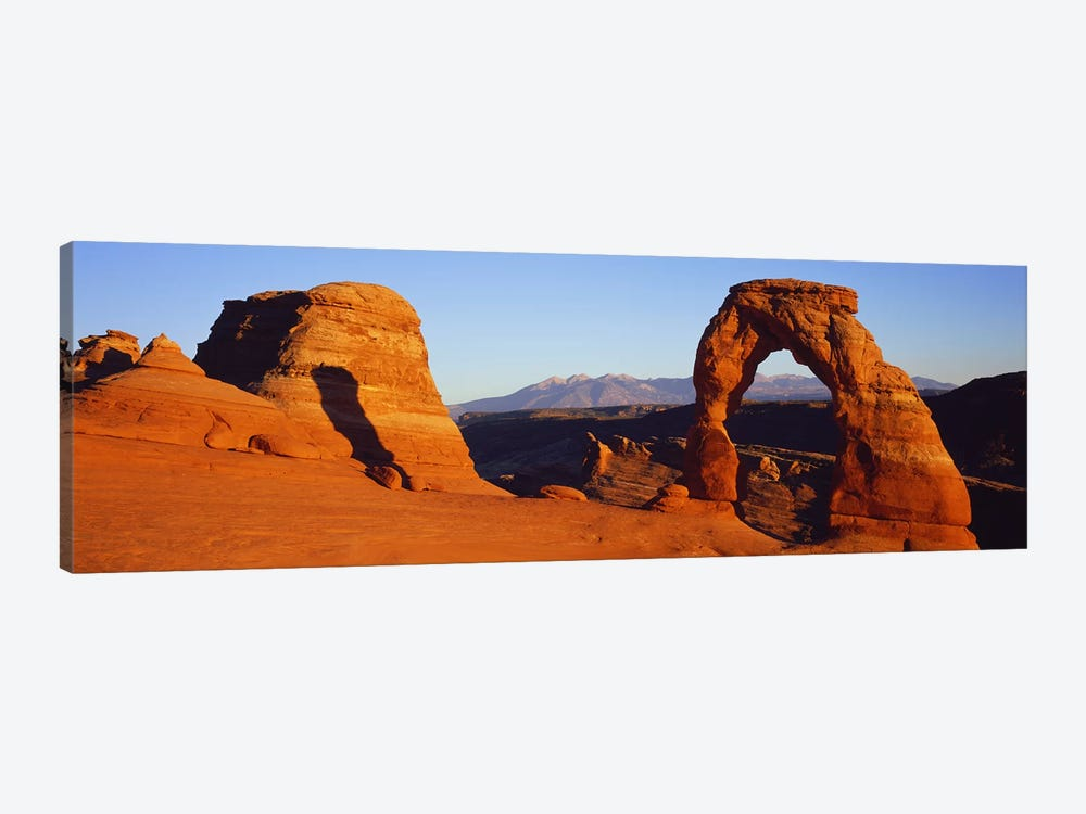 Natural arch in a desertDelicate Arch, Arches National Park, Utah, USA by Panoramic Images 1-piece Canvas Art Print