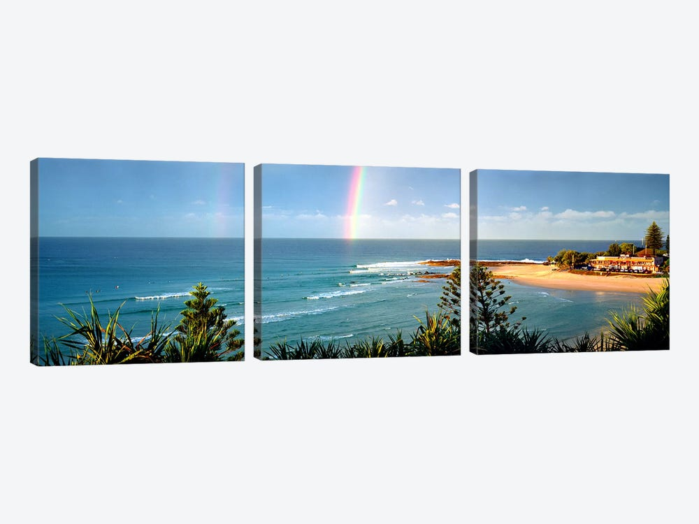 Rainbow over the sea by Panoramic Images 3-piece Art Print