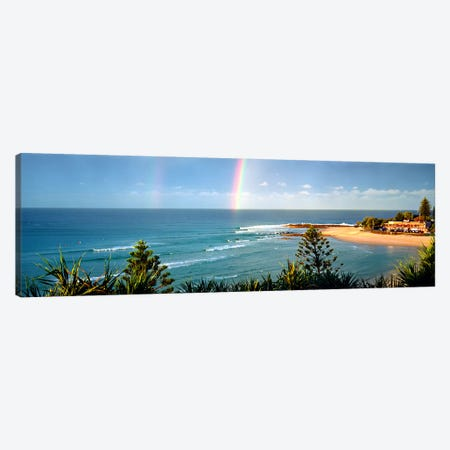 Rainbow over the sea Canvas Print #PIM9073} by Panoramic Images Art Print