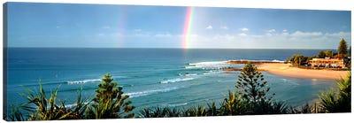 Rainbow over the sea Canvas Art Print