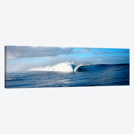 Waves splashing in the sea Canvas Print #PIM9076} by Panoramic Images Canvas Art