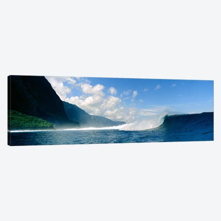 Waves in the sea Canvas Print #PIM9080} by Panoramic Images Canvas Art
