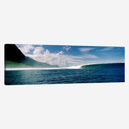 Waves in the sea Canvas Print #PIM9081} by Panoramic Images Canvas Artwork