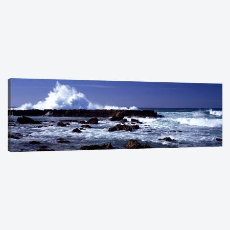 Waves breaking on the coast Canvas Print #PIM9083} by Panoramic Images Canvas Artwork