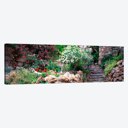 Beautiful Old Town Garden, Tossa de Mar, Costa Brava, Catalonia, Spain Canvas Print #PIM908} by Panoramic Images Canvas Art Print