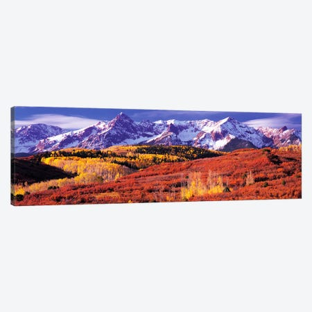Autumn Mountainside Landscape Featuring Sneffels Range, San Miguel County, Colorado, USA Canvas Print #PIM9092} by Panoramic Images Canvas Art Print