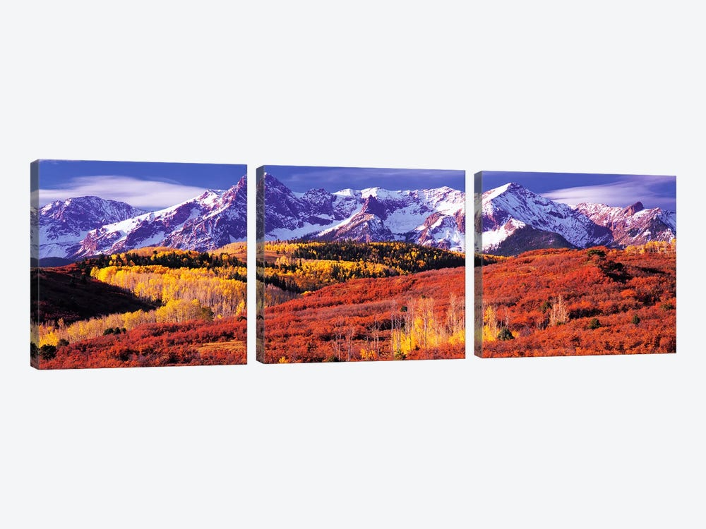 Autumn Mountainside Landscape Featuring Sneffels Range, San Miguel County, Colorado, USA by Panoramic Images 3-piece Canvas Art