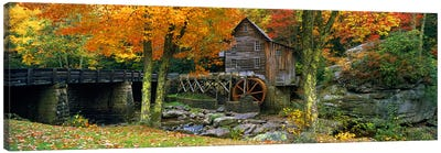 Glade Creek Grist Mill, Babcock State Park, Fayette County, West Virginia, USA Canvas Art Print