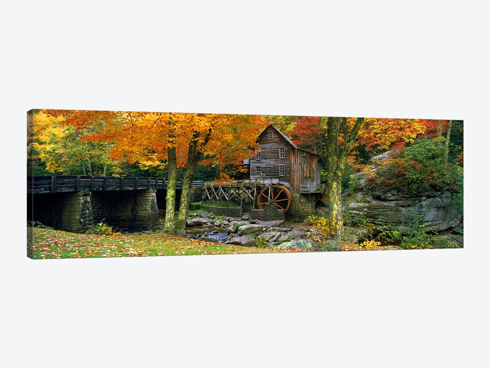 Glade Creek Grist Mill, Babcock State Park, Fayette County, West Virginia, USA by Panoramic Images 1-piece Canvas Wall Art