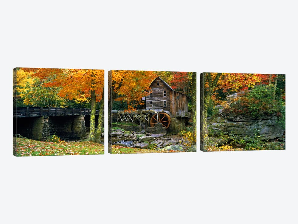 Glade Creek Grist Mill, Babcock State Park, Fayette County, West Virginia, USA by Panoramic Images 3-piece Canvas Wall Art