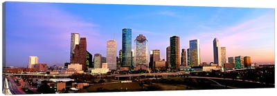 USATexas, Houston, twilight Canvas Print #PIM90