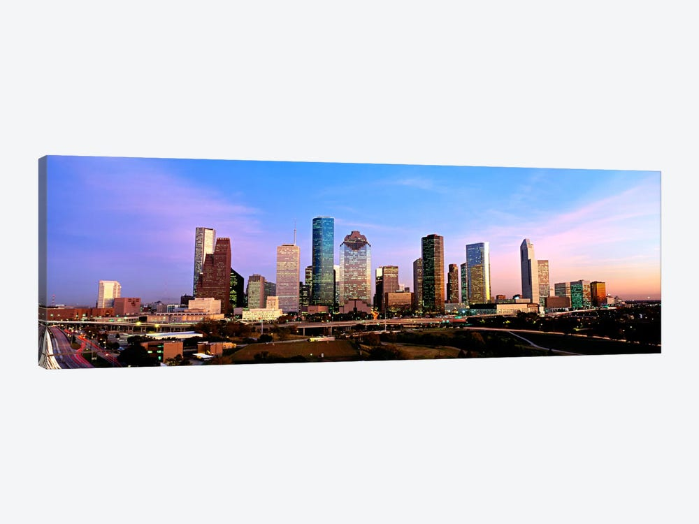 USATexas, Houston, twilight by Panoramic Images 1-piece Canvas Art Print