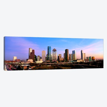 USATexas, Houston, twilight Canvas Print #PIM90} by Panoramic Images Art Print