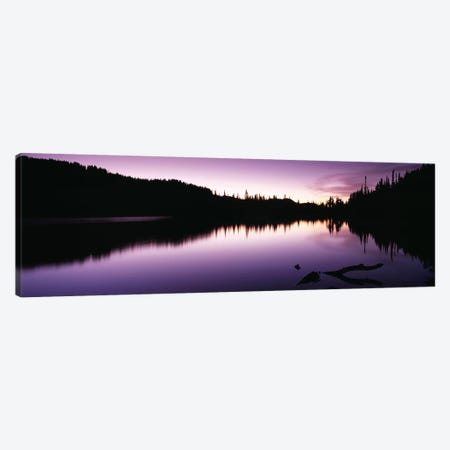 Reflection of trees in a lake, Mt Rainier, Mt Rainier National Park, Pierce County, Washington State, USA Canvas Print #PIM9103} by Panoramic Images Canvas Art Print