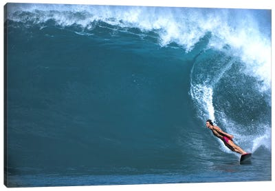 Man surfing in the sea Canvas Art Print