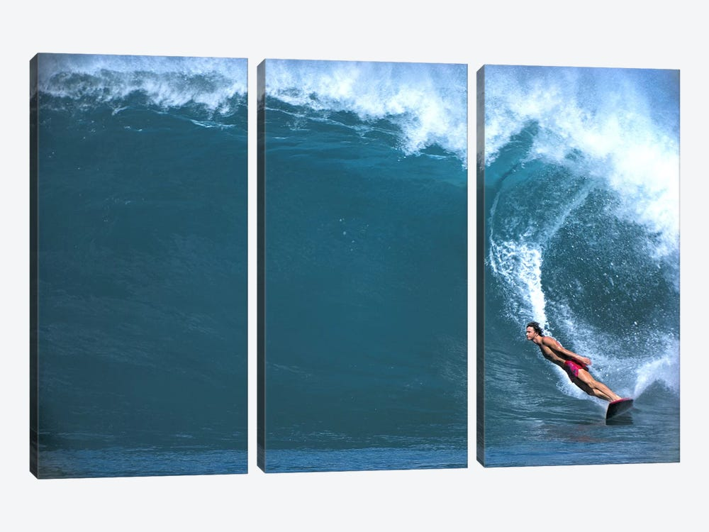 Man surfing in the sea by Panoramic Images 3-piece Canvas Art
