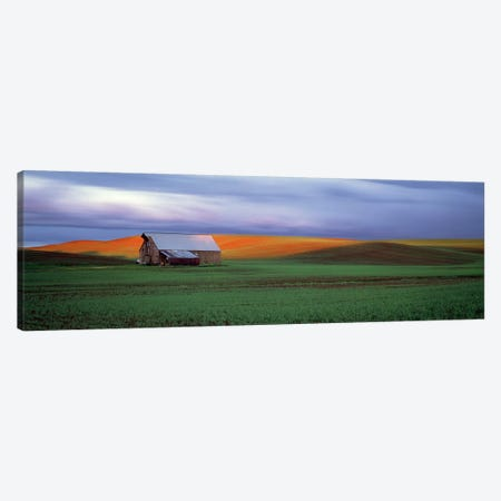 Barn in a field at sunset, Palouse, Whitman County, Washington State, USA #4 Canvas Print #PIM9114} by Panoramic Images Canvas Print