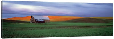 Barn in a field at sunset, Palouse, Whitman County, Washington State, USA #4 Canvas Art Print