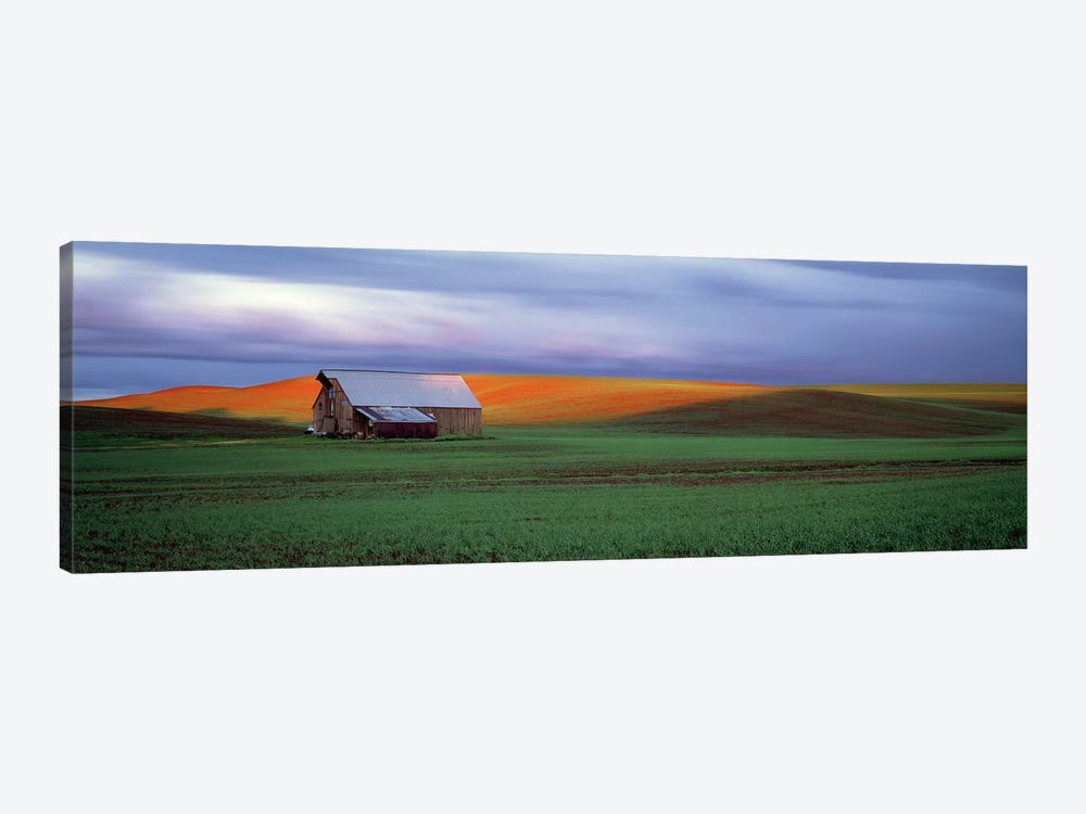 Barn in a field at sunset, Palouse, Whitman County, Washington State, USA #4 by Panoramic Images 1-piece Art Print