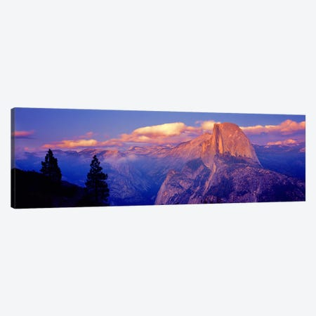 Cloudy Pastel Sunset Over Half Dome, Yosemite National Park, California, USA Canvas Print #PIM9115} by Panoramic Images Canvas Print
