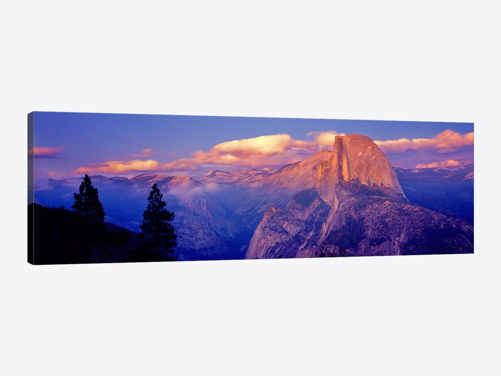 Cloudy Pastel Sunset Over Half Dome, Yosemite National Park, California, USA by Panoramic Images 1-piece Canvas Art