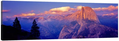Cloudy Pastel Sunset Over Half Dome, Yosemite National Park, California, USA Canvas Art Print