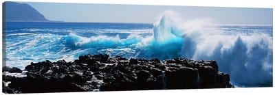 Waves breaking on rocks Canvas Print #PIM9118