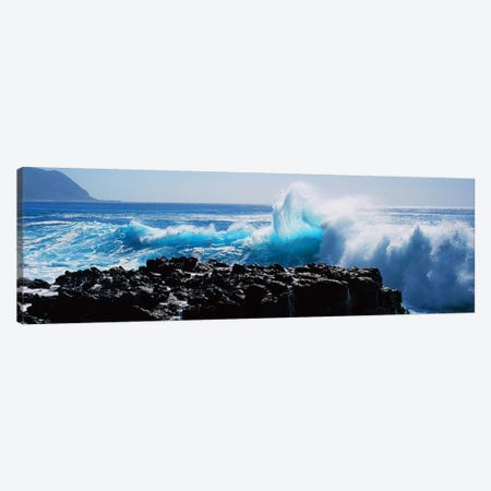 Waves breaking on rocks Canvas Print #PIM9118} by Panoramic Images Canvas Art