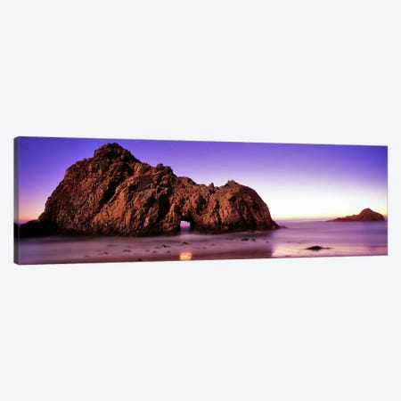 Rock formations on the beach, Pfeiffer Beach, Big Sur, California, USA Canvas Print #PIM9124} by Panoramic Images Canvas Wall Art