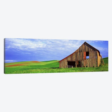 Dilapidated barn in a farm, Palouse, Whitman County, Washington State, USA Canvas Print #PIM9127} by Panoramic Images Canvas Wall Art