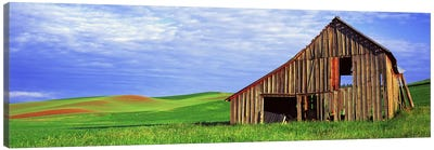 Dilapidated barn in a farm, Palouse, Whitman County, Washington State, USA Canvas Art Print