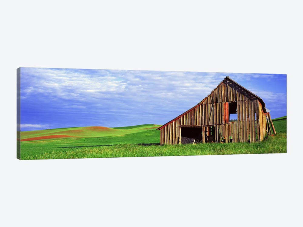 Dilapidated barn in a farm, Palouse, Whitman County, Washington State, USA by Panoramic Images 1-piece Art Print