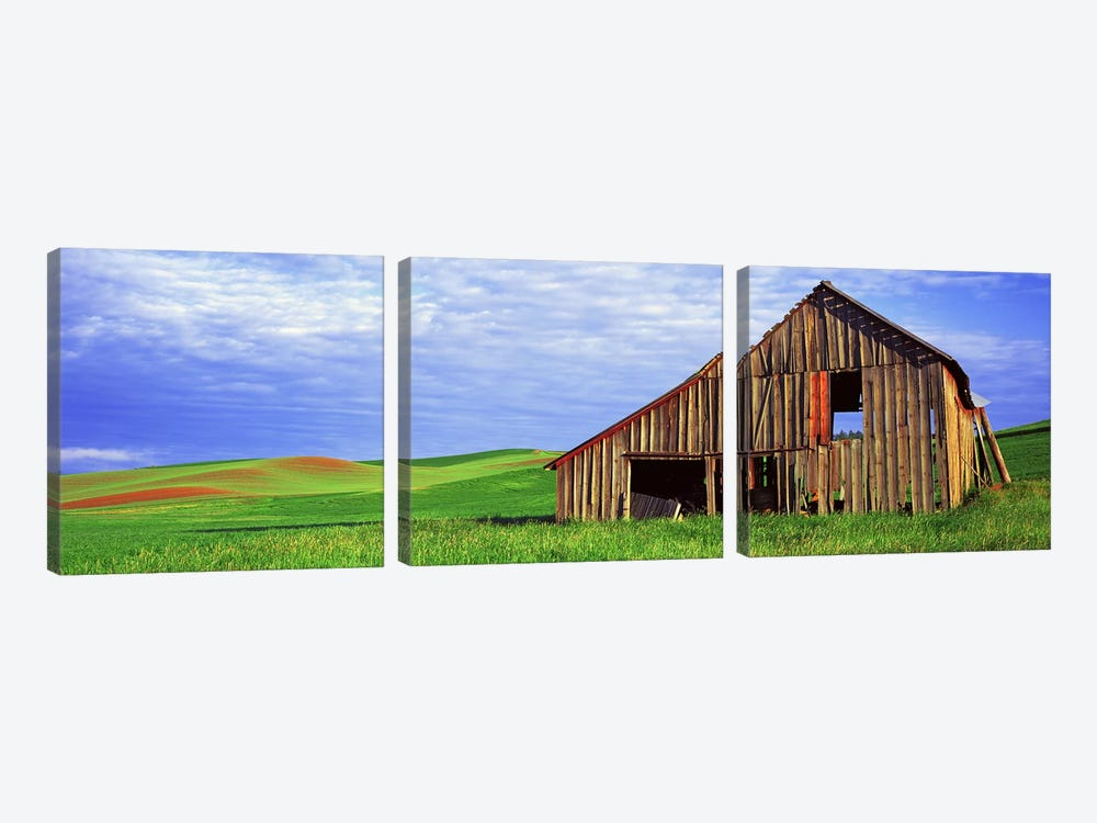 Dilapidated barn in a farm, Palouse, Whitman County, Washington State, USA by Panoramic Images 3-piece Art Print