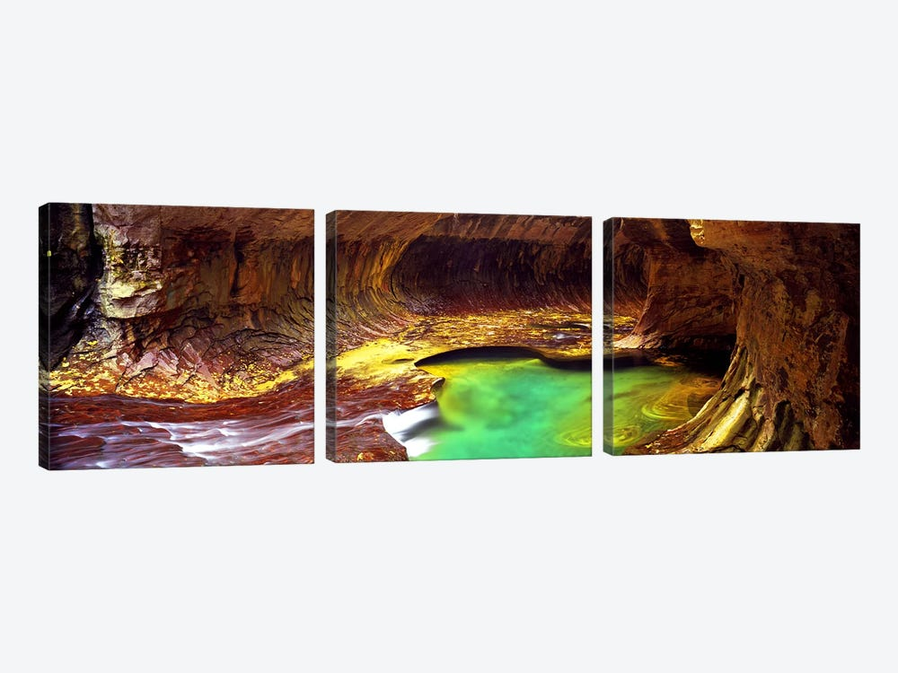 The Subway, Zion National Park, Utah, USA by Panoramic Images 3-piece Canvas Artwork