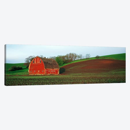 Barn in a field at sunset, Palouse, Whitman County, Washington State, USA #5 Canvas Print #PIM9136} by Panoramic Images Canvas Print