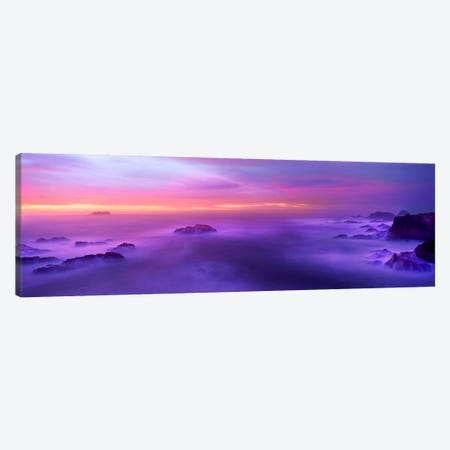 Fog reflected in the sea at sunset Canvas Print #PIM9138} by Panoramic Images Canvas Artwork