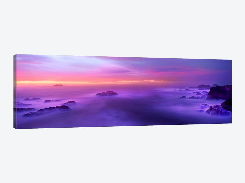 Fog reflected in the sea at sunset by Panoramic Images 1-piece Art Print