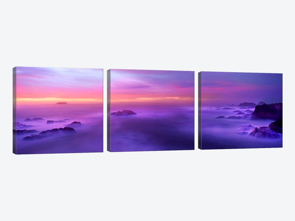Fog reflected in the sea at sunset by Panoramic Images 3-piece Canvas Art Print