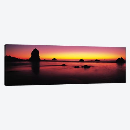 Sunset over rocks in the ocean, Big Sur, California, USA Canvas Print #PIM9139} by Panoramic Images Canvas Art