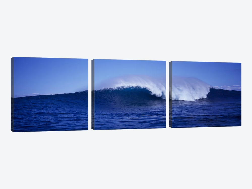 Waves splashing in the sea by Panoramic Images 3-piece Art Print