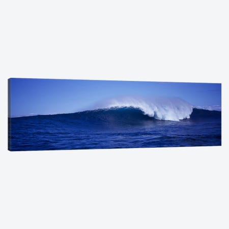 Waves splashing in the sea Canvas Print #PIM9152} by Panoramic Images Canvas Wall Art
