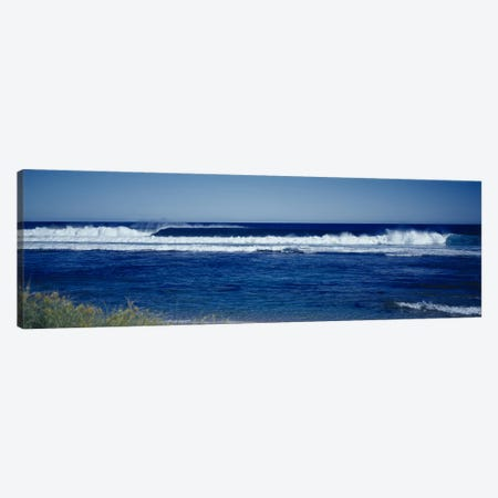Waves in the sea Canvas Print #PIM9153} by Panoramic Images Canvas Artwork