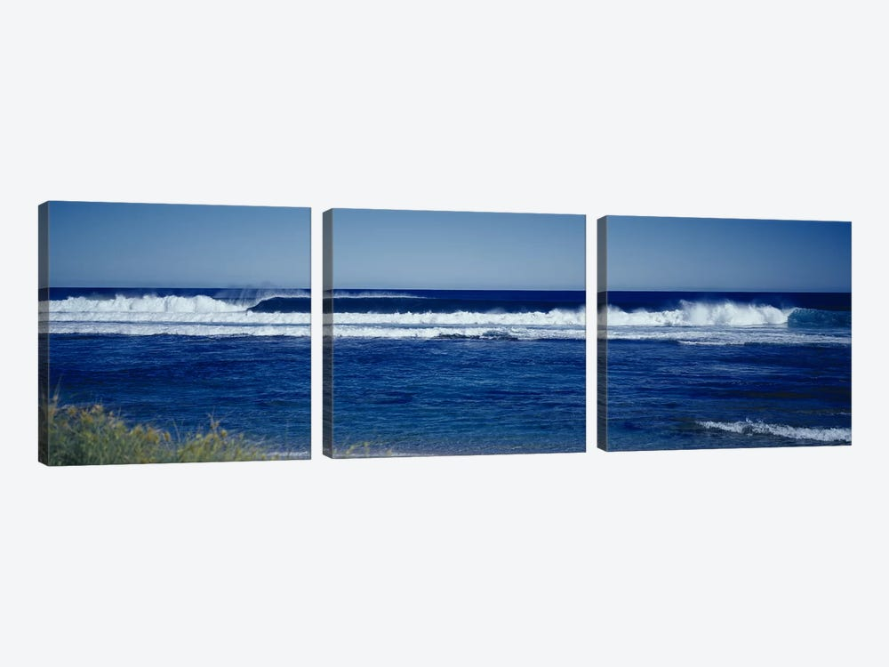 Waves in the sea by Panoramic Images 3-piece Canvas Artwork