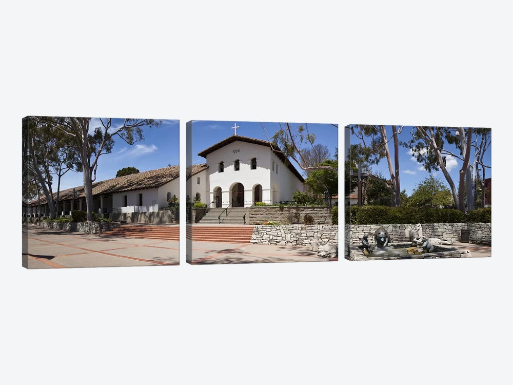 Facade of a church, Mission San Luis Obispo, San Luis Obispo, San Luis Obispo County, California, USA by Panoramic Images 3-piece Canvas Wall Art