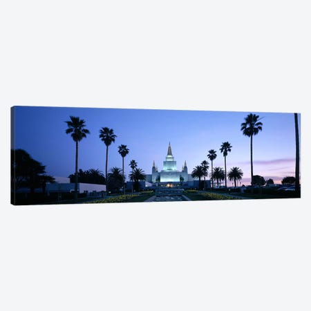 Formal garden in front of a temple, Oakland Temple, Oakland, Alameda County, California, USA Canvas Print #PIM9158} by Panoramic Images Canvas Wall Art