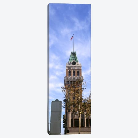 Low angle view of an office building, Tribune Tower, Oakland, Alameda County, California, USA Canvas Print #PIM9159} by Panoramic Images Canvas Artwork