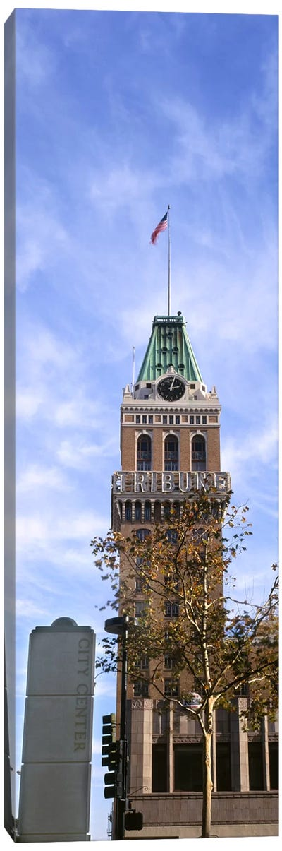 Low angle view of an office building, Tribune Tower, Oakland, Alameda County, California, USA Canvas Art Print