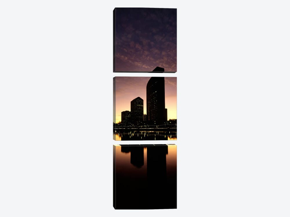 Buildings at the waterfront, Lake Merritt, Oakland, Alameda County, California, USA by Panoramic Images 3-piece Canvas Art