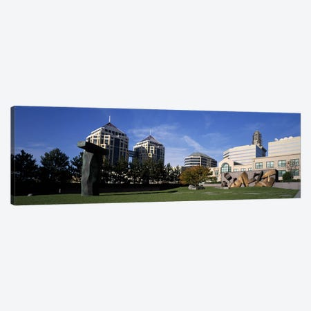 Sculptures in a garden, West Garden, Oakland City Center, Oakland, Alameda County, California, USA Canvas Print #PIM9161} by Panoramic Images Canvas Print